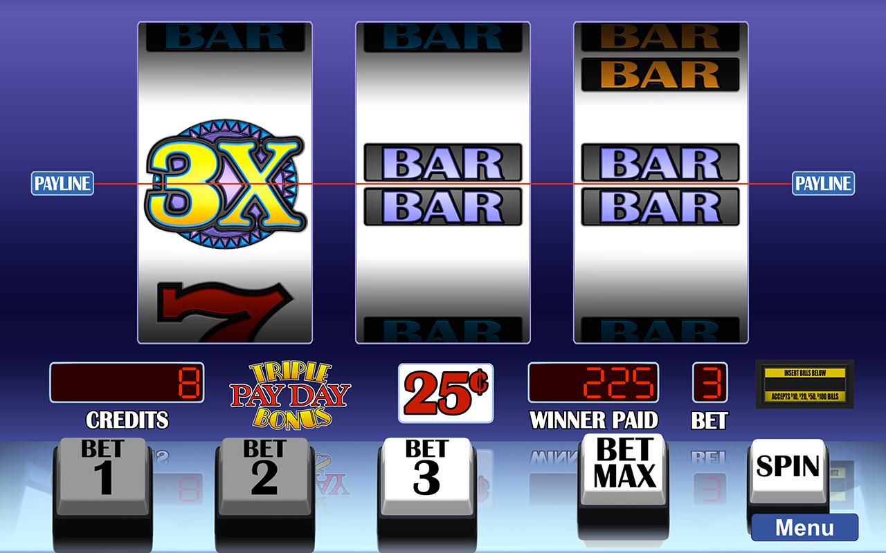 Arcadia Slots screenshot of 24 Triple Payday Bonus slot game.