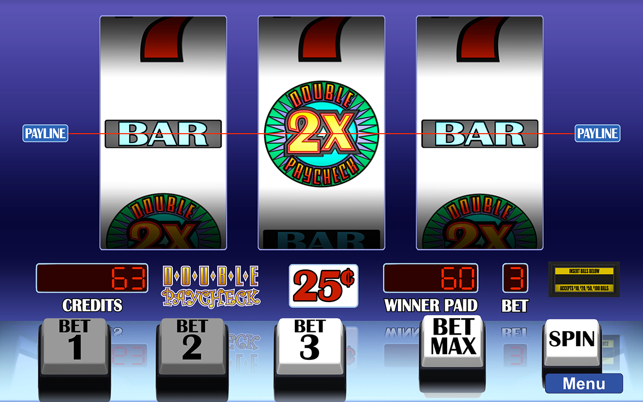 Arcadia Slots screenshot of Double Paycheck slot game.