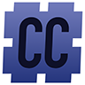 Camel Caser icon: A stylized 'CC' set inside a large hash symbol with a light blue-gray to dark blue-gray background.
